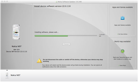 Nokia Software Updater for Mac