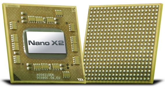 VIA Nano X2 E Series dual-core