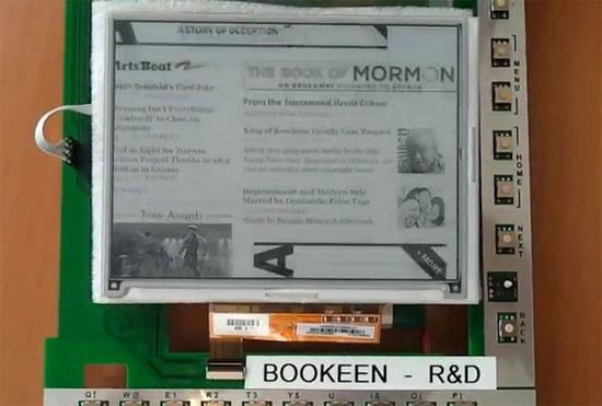 e ink screen Booken prototype