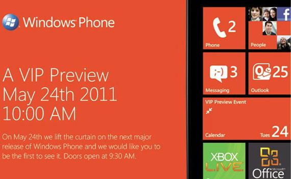Windows Phone update to mango
