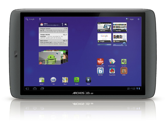 Archos G9 101 tablet Android Honeycomb