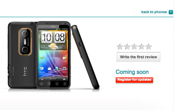 HTC EVO 3D Vodafone