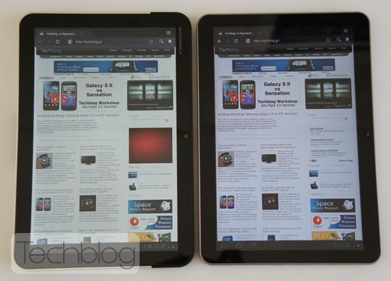 Motorola Xoom vs. Samsung Galaxy Tab 10.1v Techblog.gr
