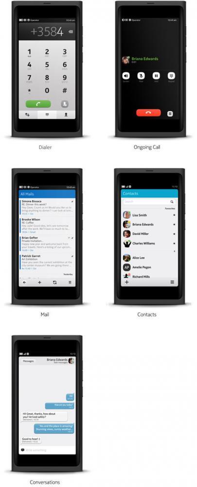 Nokia N9 MeeGo screenshots user interface