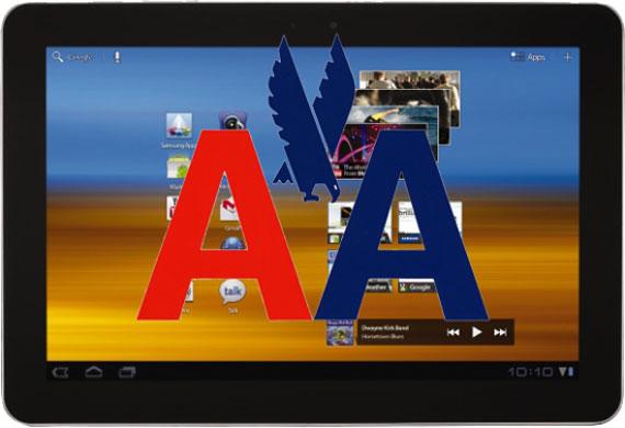 Samsung Galaxy Tab 10.1 American Airlines
