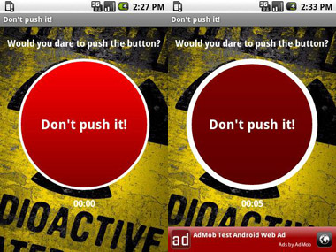 don't push it android application