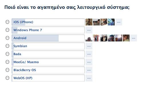 poll facebook smartphones OS