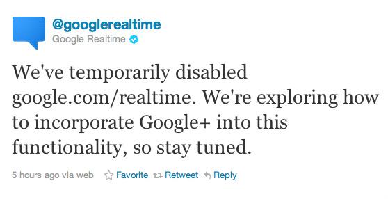 Google plus realtime