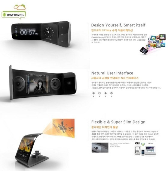Samsung flexible concept smartphone