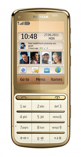 Nokia C3-01 Gold Edition, Με χρυσό 18 καράτια και επεξεργαστή 1GHz