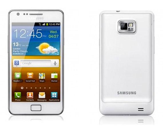 Samsung Galaxy S II λευκό χρώμα