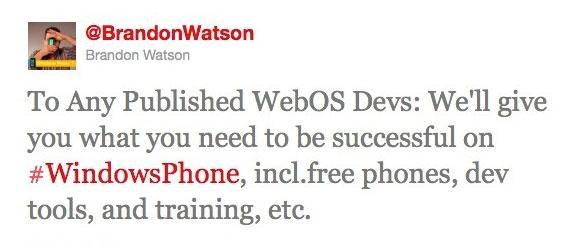 Microsoft, Προσκαλεί τους προγραμματιστές του WebOS