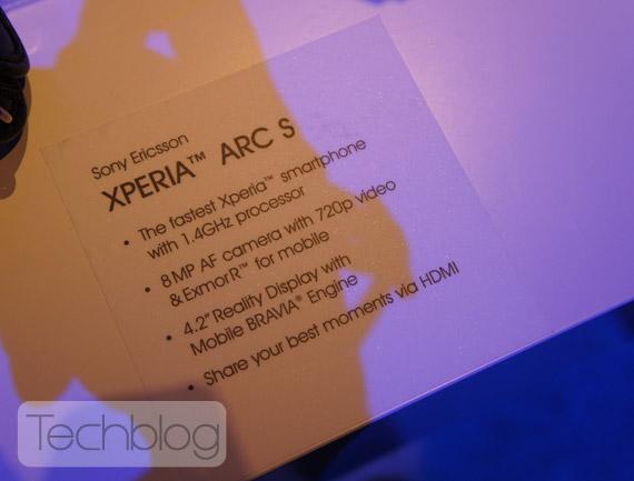 Sony Ericsson Xperia Arc S, Με επεξεργαστή 1.4GHz