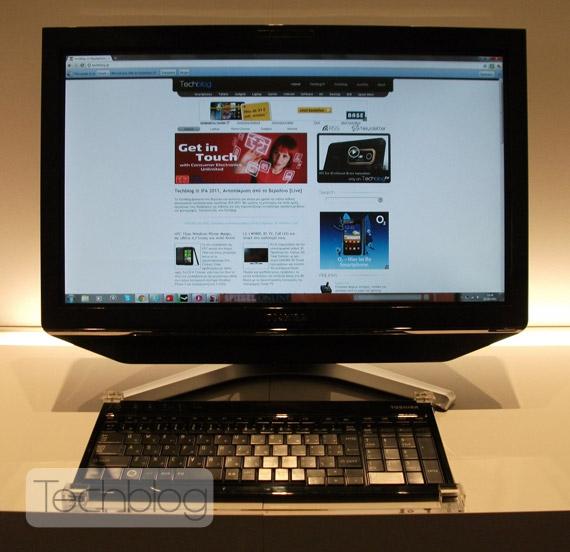 Toshiba Qosmio DX730, All in one PC με οθόνη αφής multi-touch