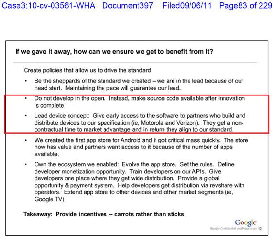 Google, Εσωτερικό έγγραφο κάνει πλάτες στη Motorola και αφήνει στην απ' έξω τους υπόλοιπους κατασκευαστές