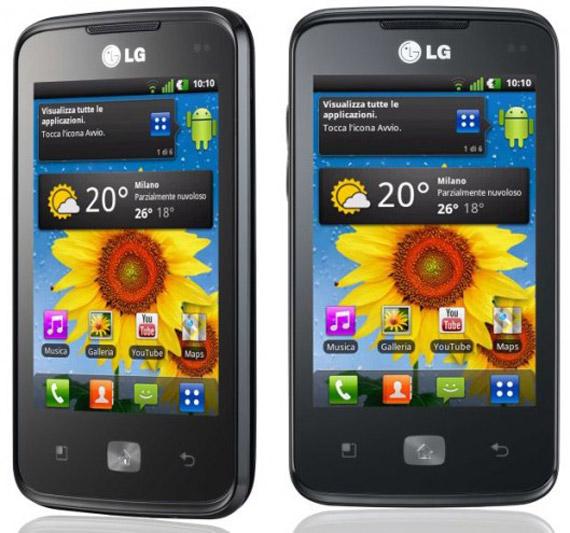 LG Univa E510, Με οθόνη 3.5 ίντσες και επεξεργαστή 800MHz