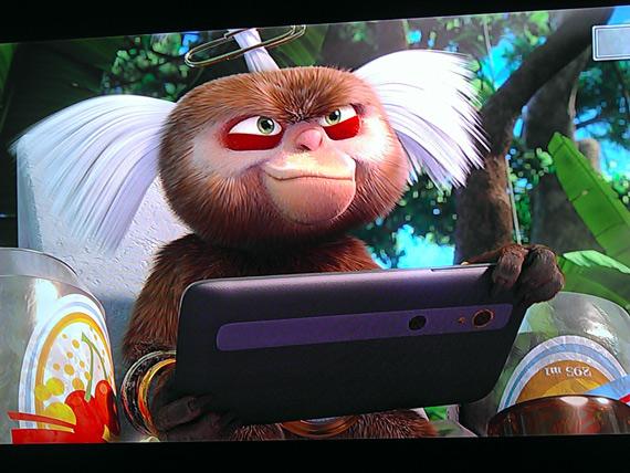 LG Optimus 3D, Εμφανίζεται στην ταινία animation Rio!