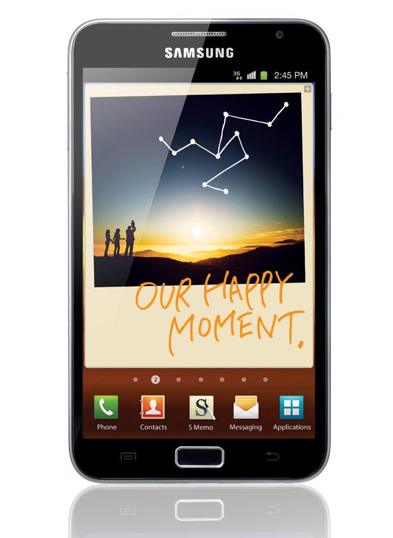 Samsung Galaxy Note, Με οθόνη 5.3 ίντσες Super AMOLED