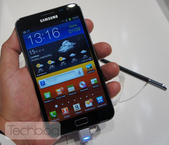 Samsung Galaxy Note ελληνικό βίντεο παρουσίαση