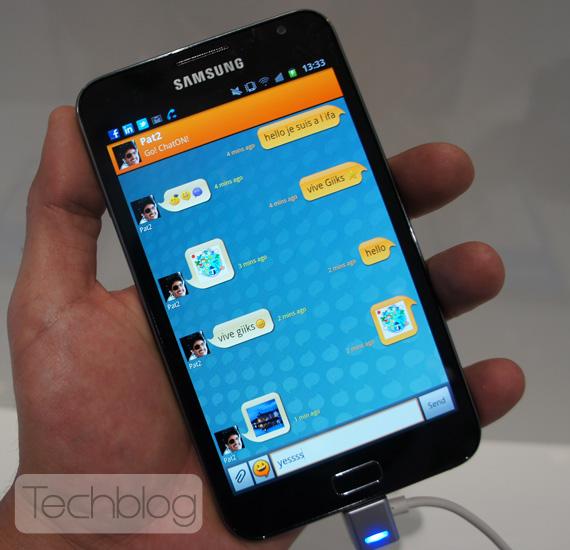 Samsung Galaxy Note, Φωτογραφίες hands-on και το βράδυ το βίντεο