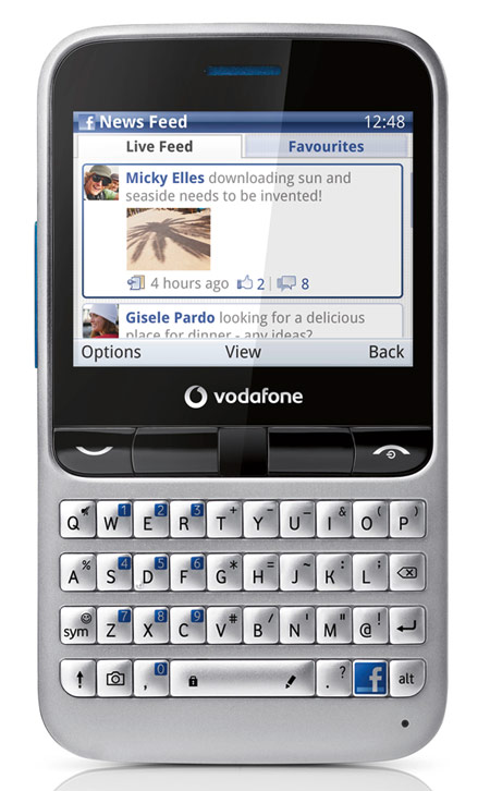 Vodafone 555 Blue Facebook phone