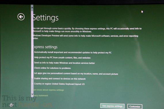 Windows 8, Τρέχουν σε laptop της Toshiba