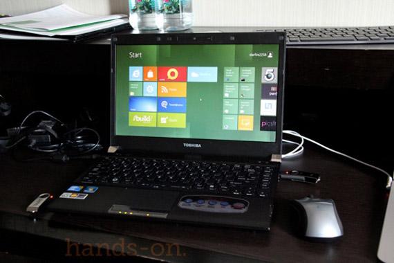 Windows 8, Τρέχουν σε laptop της Toshiba [video]