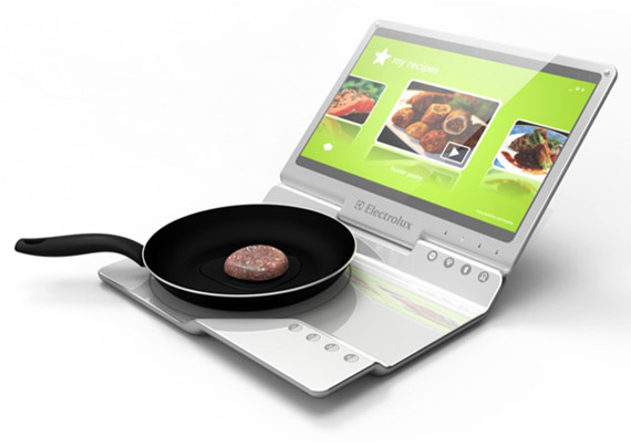 Electrolux Cooking Laptop, Μάτι κουζίνας με οθόνη αφής [concept]
