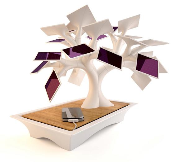 The Electree, Ένα δέντρο-ηλιακός φορτιστής για το σαλόνι σας