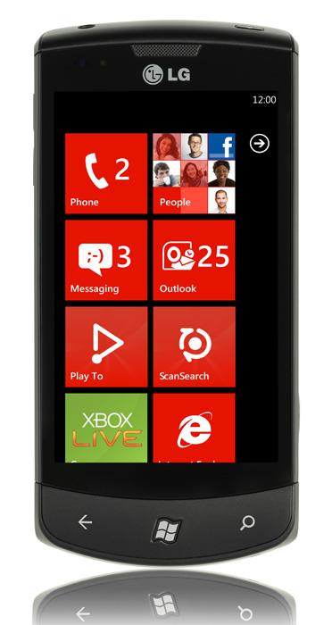 LG E900 Optimus 7, Αναβαθμίσατε σε Windows Phone 7.5 Mango;