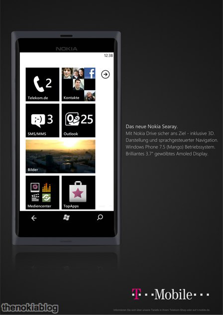 Nokia Searay Windows Phone Mango, Μοιάζει με το Nokia N9