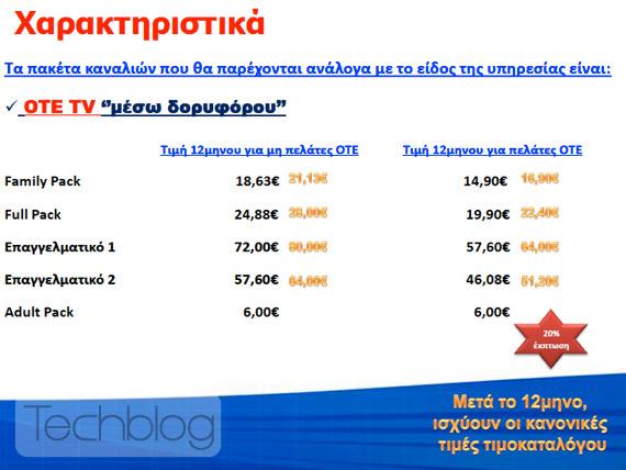 ΟΤΕ TV Δορυφορική Τηλεόραση, Εξοπλισμός, πακέτα, τιμές, κανάλια