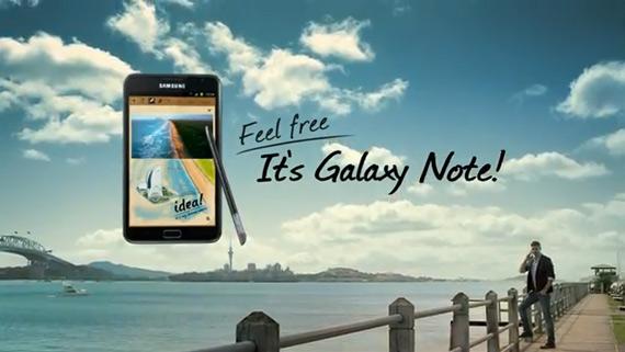 Samsung Galaxy Note, Διαφημιστική προθέρμανση