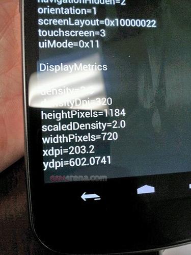 Samsung Nexus Prime, Με οθόνη 4.6 ίντσες HD 1280x720 pixels;
