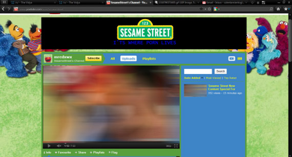 Σουσάμι άνοιξε, Χάκαραν τη σελίδα στο YouTube και έβαλαν porno στη θέση των muppet