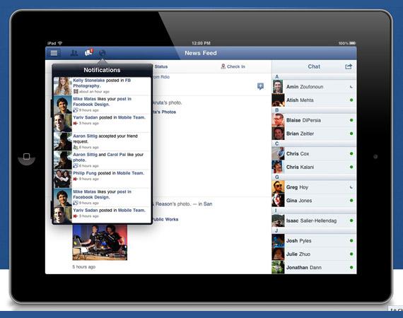 Κυκλοφόρησε η εφαρμογή Facebook για το iPad