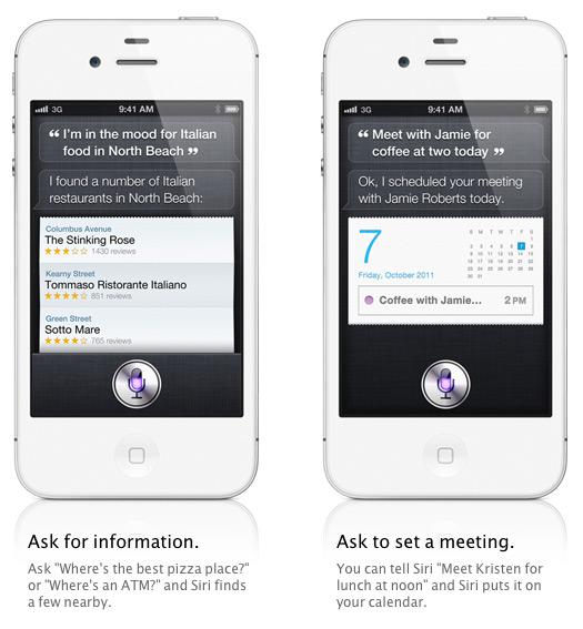 iPhone 4S Siri, Ο προσωπικός σας βοηθός
