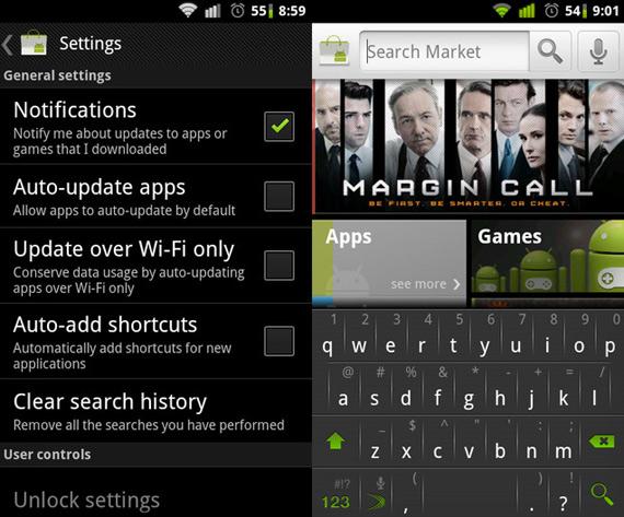 Νέο Android Market με αυτόματες ενημερώσεις μέσω Wi-Fi