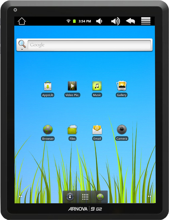 Archos Arnova 9 G2 tablet, Με οθόνη 9.7 ίντσες και Android 2.3 Gingerbread