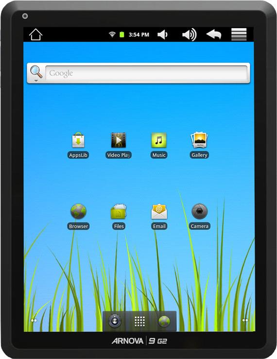Archos Arnova 9 G2 tablet, Με οθόνη 9.7 ίντσες και Android 2.3 Gingerbread