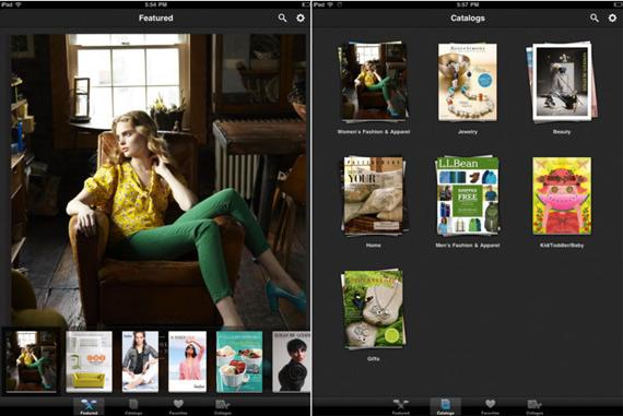 Google Catalogs, Εφαρμογή για iPad και Android tablets