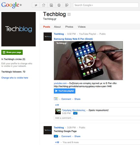 Το Techblog στο Google+, Μπες στον κύκλο της τεχνολογίας