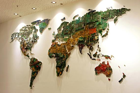 Ο παγκόσμιος χάρτης από εξαρτήματα υπολογιστών