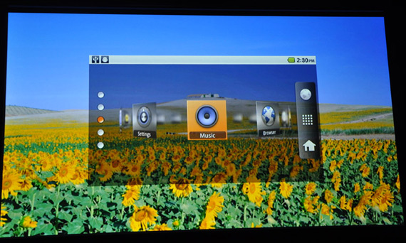 Epson Moverio BT-100, Φορετά διαφανή γυαλιά 3D με Android 2.2