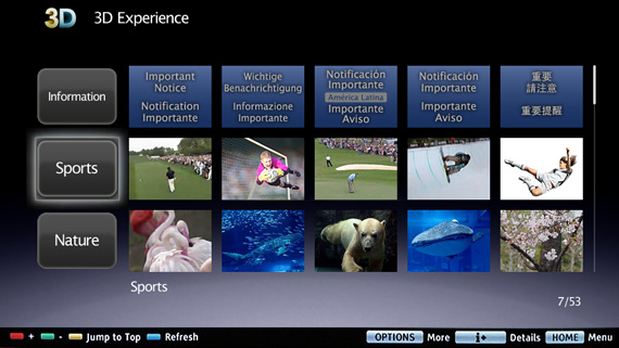 Sony 3D Experience, Νέα υπηρεσία με on-demand 3D περιεχόμενο