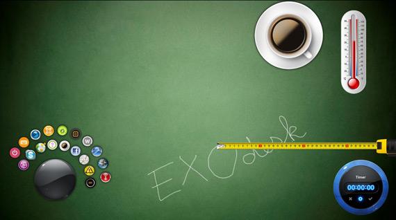 EXOdesk, Concept υπολογιστής με οθόνη αφής και το δικό του user interface