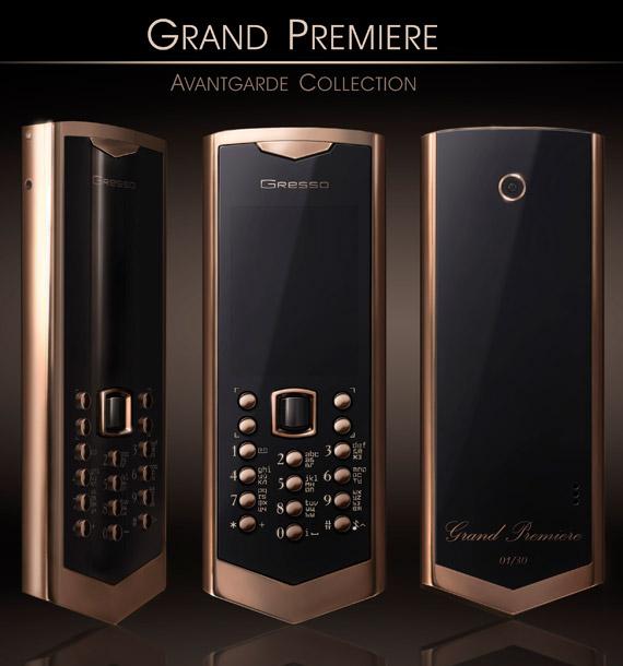 Gresso Grand Premiere, Κινητό αξίας 50.000 δολαρίων Αμερικής