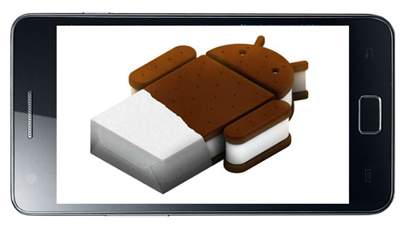 Samsung Galaxy S II, Σε ορισμένες αγορές κυκλοφορεί με Ice Cream Sandwich