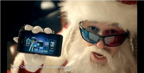 Santa Claus, Για φέτος προτείνει LG Optimus 3D και Optimus Black