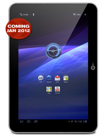 Toshiba Excite, Honeycomb tablet με 10άρα οθόνη και πάχος 7.7 χλστ.